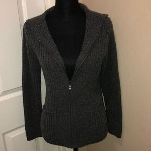 Liz Claiborne Zip Up Hooded Sweater with Pockets